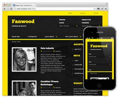 Fanwood nice little collection of themes for Wordpress