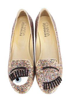 chiara ferragni glitter loafers