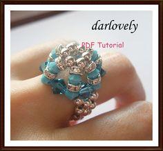 Blue Turquoise Bling Bling Ring