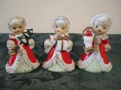 TRIO OF VINTAGE LEFTON ANGEL CHRISTMAS BELLS