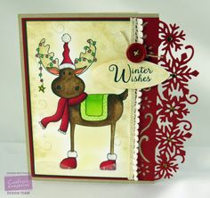 By: Kendra Wietstock for Crafter's Companion.  Die'sire Edge'ables Christmas…