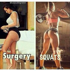 Surgery VS Squats! Ughhhhh I like Kim but so over her saggy fake hippos ass. Goodness be happy with how beautiful you already were!!!
