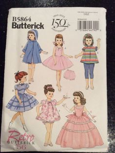 American Girl Doll Clothes-Butterick 5864 Retro by gofancynancy