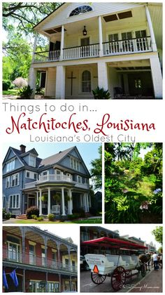 From beautiful bed and breakfasts to old plantation houses, there are lots of fun things to do and beautiful, historic sights to see when visiting Natchitoches, Louisiana!