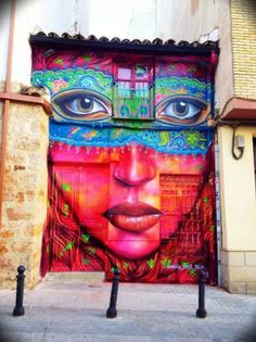 Street Art by Anarkia, Flantl and Belin, located in Linares, Spain