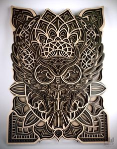 Your place to buy and sell all things handmade Laser Art, Laser Cut Wood, Laser Cutting, Lazer Cutter, Lotus Flower Mandala, Mandala Pattern, Fractal Patterns, Laser Cutter Projects, Wood Carving Designs