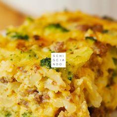 schisciando gateau di broccoli e patate