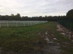 Projekt Rüsslesheim 15-09-2017  Nachdem wir im Jahr 2015 den Ranch Fence Zaun montiert haben. Jetzt haben wir 1000lfm Stabgitterzaun grün 223/203cm in einem Graben und 2 Stück 5m Doppeltoranlagen montiert.
