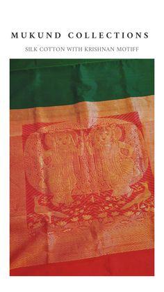 Intricate handwoven gokula krishnan work on silk cotton saree Silk Cotton Sarees, Hand Weaving, Pink, Collection, Hand Knitting, Pink Hair, Roses, Weaving