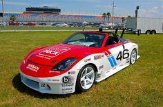 Gymkhana Grid 350z restored by East Ridge High School Students Appears at Daytona International Speedway http://www.automotiveaddicts.com/46486/gymkhana-grid-350z-east-ridge-high-school-daytona-speedway