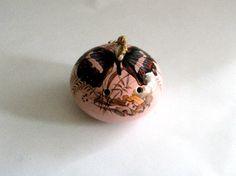 Pink Butterfly Ceramic Pomander Vintage by mish73 on Etsy, £5.00