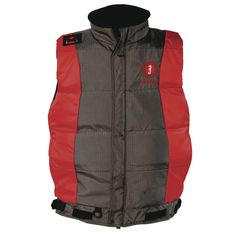 Mustang Integrity Flotation Vest - Small - Red/Carbon - https://www.boatpartsforless.com/shop/mustang-integrity-flotation-vest-small-redcarbon/