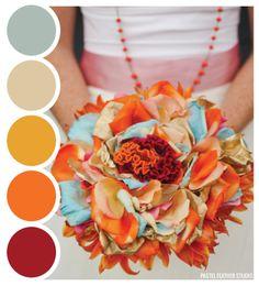 AUTUMN BOUQUET - color palette  Pastel Feather Studio