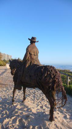 Gold Coast Pioneer Bill Coleman. Jennie Scott. Driftwood Sculpture...Swell Festival 2009 http://www.swellsculpture.com.au/