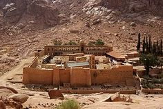Saint Catherine's Monastery - at the foot of Mount Sinai, Sinai Peninsula, Egypt --  The Orthodox monastery is a UNESCO World Heritage Site.  One of the oldest working Christian monasteries in the world.