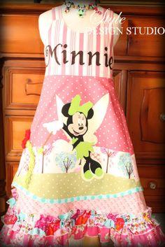 Girls Minnie Mouse Disney Dress Sizes 2 - 10