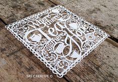 Papercut Template PDF 'Where there's Tea there's por SASCreative