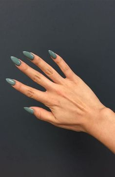 70 Most Stunning Almond Acrylic Nails Design You Must Try in Fall and Winter - N. 70 Most Stunning Almond Acrylic Nails Design You Must Try in Fall and Winter - Nail Idea Anchor Nail Designs, Acrylic Nail Designs, Coffin Nails Matte, Almond Acrylic Nails, Acrylic Nails Green, Autumn Nails Acrylic, Fall Almond Nails, Rounded Acrylic Nails, How To Do Nails