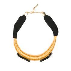 collar dorado & negro