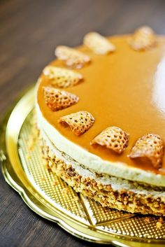 Magyarország tortája 2013 - Milotai mézes grillázstorta - Kifőztük, online gasztromagazin Hungarian Recipes, Sweets Cake, Tea Cakes, Sweet And Salty, Cakes And More, No Bake Cake, Tiramisu, Cake Recipes, Mousse