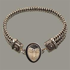 V-Mesh bracelet and goddess charm by Tabra
