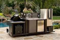 Prefab Outdoor Kitchen Kits Prefab Outdoor Kitchen, Outdoor Kitchen Kits, Modular Outdoor Kitchens, Outdoor Kitchen Design, Kitchen Ideas, Space Photos, Outdoor Furniture Sets, Outdoor Decor, Small Spaces