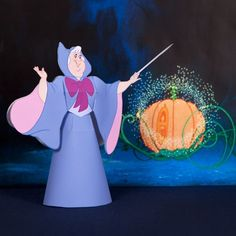 This Fairy Godmother Papercraft is a fun decoration any princess would love to make.