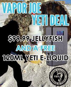 Vapor Joes - Daily Vaping Deals: BLOWOUT: JELLYFISH 53 WATT / 4000mAh BOX MOD + 120...