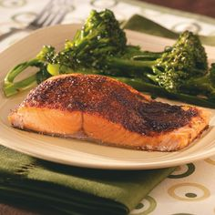 Sensational Spiced Salmon Recipe -A sweet and spicy rub gives this quick salmon dish fantastic flavor. Paired with a green veggie and rice, it's a delightful weeknight dinner that's special enough for company. –Michele Doucette of Stephenville, Newfoundland