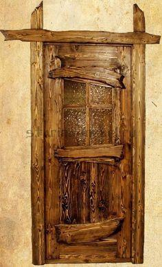 Двери для сауны под старину