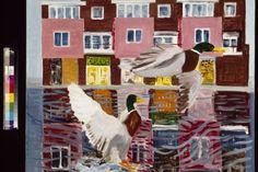 Emo Verkerk, Twee woerden in de Bassingracht, 2004, olieverf op doek. Courtesy Willem Baars Projects