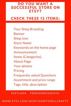 Hi! This information is about what is important to check in your Etsy shop. If you need professional critique  of your store, click on the link - be sure I'll help you: https://www.etsy.com/listing/491009421/etsy-shop-critique-home-page-etsy?ref=shop_home_active_1