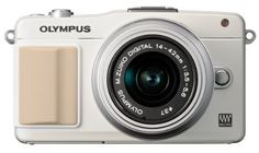 Olympus E-PM2 Interchangeable Lens Digital Camera with 14-42mm Lens (White) by Olympus. $499.00. From the Manufacturer                                                                                                                                                                                                                                            CREATIVE POWER IN A SMALL PACKAGE.             The PEN E-PM2 is all the proof you need that small and stylish can d...