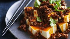 Spicy hot beef and tofu (This recipe uses mince. I think it'd be better with thin pieces of beef as they do in China)
