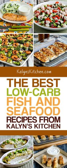 We should all be eating plenty of fish, so I've updated this collection of The BEST Low-Carb Fish and Seafood Recipes from Kalyn's Kitchen to help you Gluten Free Lasagna, Gluten Free Meal Plan, Gluten Free Recipes, Low Carb Recipes, Healthy Recipes, Healthy Food, Fish Recipes, Seafood Recipes, Dinner Recipes