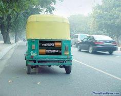 Duracell Ad on a Rickshaw