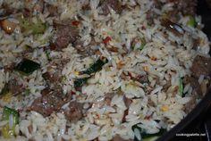 Паста орзо с итальянскими колбасками, грибами, цуккини и трюфельным маслом