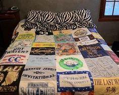 Tagesdecke aus alten T-Shirts