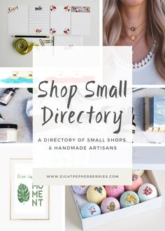 When you support small business you support a dream. Use this directory when shopping online to support small business and handmade artisans.