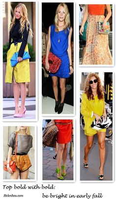 Top Bold With Bold: Be Bright In Early Fall