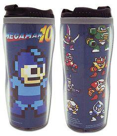 Megaman 10 X Mega Man & Bosses Capcom Nintendo Travel Mug/Tumbler NEW Anime