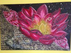 Lotus in the Universe Nam Myoho Renge Kyo!!! Original art MarjoriePaints