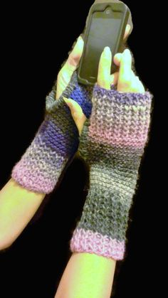 Multicolor Fingerless Wrist Warmer by NadiasKnits on Etsy, $25.00