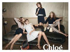 Chloé  Models: Caroline Brasch Nielsen, Tilda Lindstam, Nadja Bender, and Rosie Tapner  Photographer: Glen Luchford