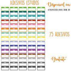 Adesivos de estudos - planner de estudos - study stickers - em português