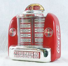 Retro Coke Coca Cola Diner Jukebox Musical by PittsburghClockshop, $25.00