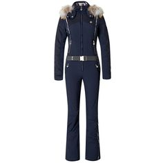 Sportalm Jobo M. Kap Insulated Ski Suit in Navy Blue (Women's) | Peter Glenn