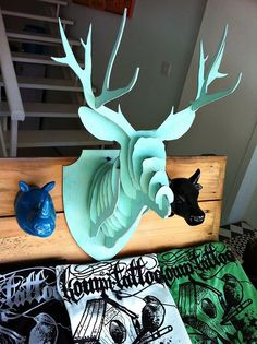 dodatki - dekoracje - inne-OH_DEER Poroże, trofeum - głowa jelenia, jeleń