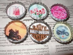 Bottlecap Magnets (with tutorial/directions) - JEWELRY AND TRINKETS  handmade gifts for men on Craftster.org