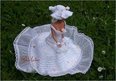Défilé Stylistes 2012 :Barbie mariée (1) - Pipiouland.eklablog.com Doll Stuff, Barbie Clothes, Creations, Crochet Hats, Knitting, Pattern, Inspiration, Fashion, Stylists